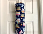 Grocery Bag Holder Made with Glamper Campers Home Decor Fabric