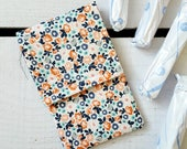 Tampon Holder, Pad/Pantiliner Case For Your Purse in Small Floral Fabric