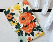 Tampon Holder, Pad/Pantiliner Case For Your Purse in Fancy and Fabulous Floral Riley Blake Fabric