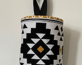 Grocery Bag Holder In Aztec Home Decor Fabric