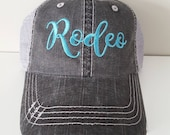 Rodeo Embroidered Hat with Choice of Thread Colors