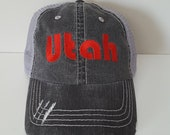 Utah Embroidered Hat with Choice of Thread Color
