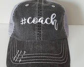 Coach Embroidered Hat with Choice of Thread Colors