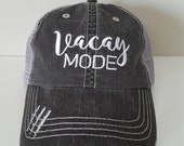 Vacay Mode Embroidered Hat with Choice of Thread Colors