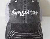 Horse Mom Embroidered Hat with Choice of Thread Colors