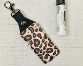 Leopard Print Lip Balm Holder