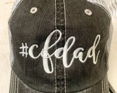 CF Cystic Fibrosis Dad Embroidered Hat with Choice of Thread Color
