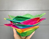 Microwave Bowl Cozy in Rainbow Create Fabric