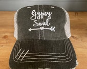 Gypsy Soul Embroidered Hat with Choice of Thread Colors