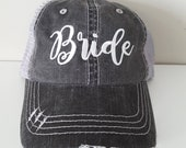 Bride Embroidered Hat with Choice of Thread Colors