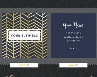 square business card design - gold foil - we design, you print with moo