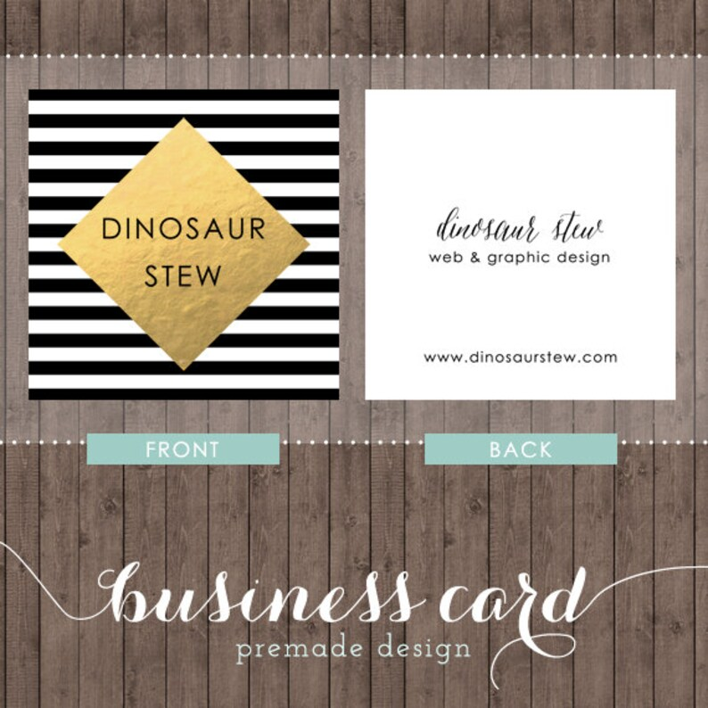 Square Business Card Design Gold Foil We Design You Print With Moo