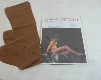 Vintage aristoc 555 bas en nylon Taille 10.5 Deep Amber 15 deniers