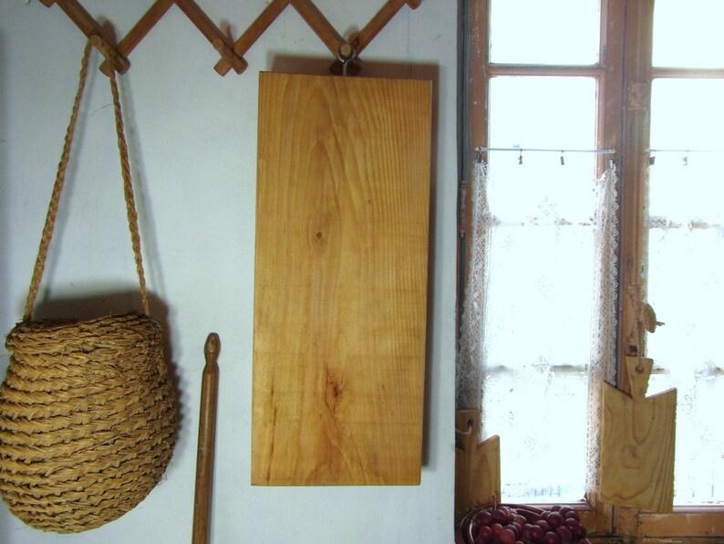 chopping block Long chunky butchers block wooden cutting board