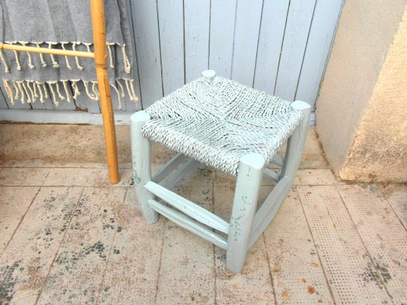 Wondrous Small Vintage Bench Stool Ottoman Stool Coffee Table Straw Seat Stool Bench Seat Wooden Stool Bench Seat Beach House Decor Pdpeps Interior Chair Design Pdpepsorg