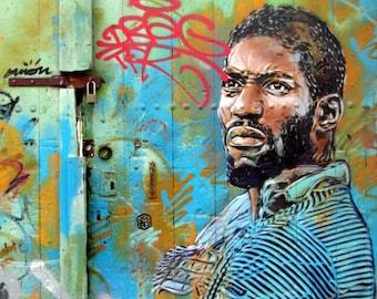 Photography print : Urban graffiti, Sete France, graffiti art print, loft decor, street art print, Urban art.