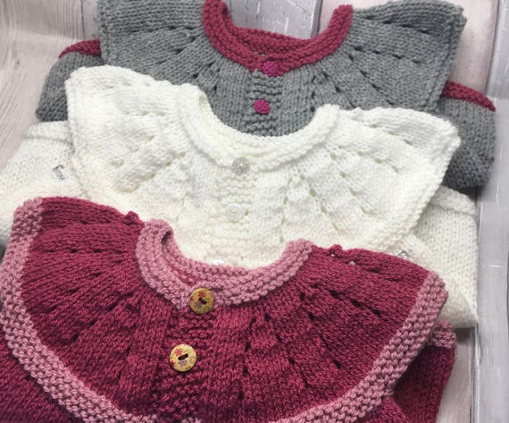 530fcb94a Knitted baby cardigan winter Christmas baby jacket grey