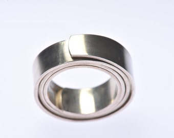 Recycled Silver tension ring