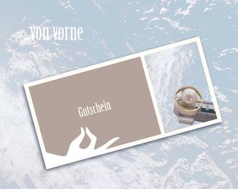Jewellery Gift Voucher, Jewellery Gift Certificate, Gift card
