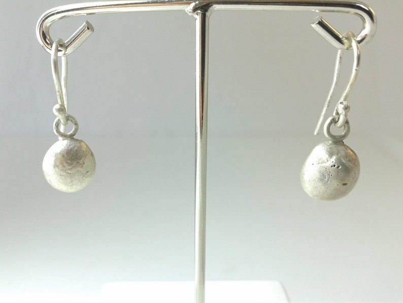 ethical silver silver drop earrings Oval