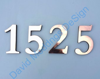 """Copper floating block house numbers letters in Traditional Garamond font 6""""/150 mm high u"""