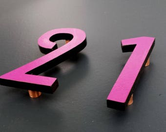 "Large  Arts and Crafts House numbers Mission Mackintosh coloured  12""/300mm high Architectural d"