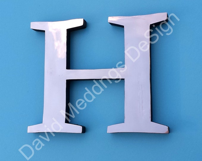 "Large Copper CAPITALS  floating letters  sign  9""/225mm high Garamond block style with some discreet seams d"