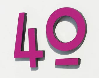 "Mission Mackintosh Architectural 4""/100mm high House numbers in virgin Coloured Trespa   g"