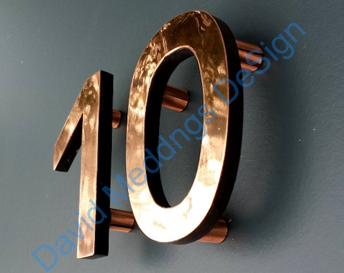 Sign locators only- the female connector for the small wall mounted floating numbers with copper collars