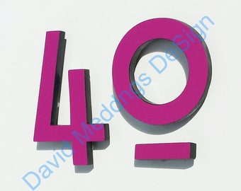 "Colour Mission Mackintosh Architectural floating House numbers 4""/100mm high   g"