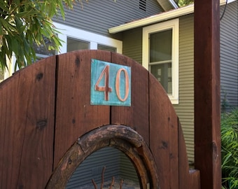 "Large Outdoor Copper Number Letter Address Plaque  2 x nos. 6""/150mm tracked delivery, unique on the web g"