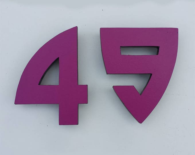 "Large Architectural Arts and Crafts House numbers 9""/228mm high   in Bala font in  virgin cladding board"