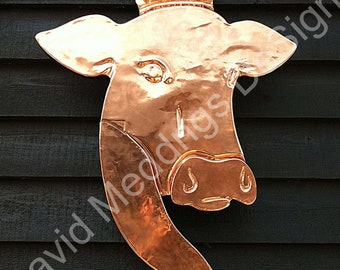 Architectural graphic signage from your drawing or picture in Copper  , craftsman made from your artwork or our graphics
