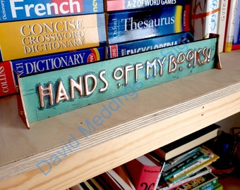 """Desk office Attorney Gift Name sign in Mackintosh/Mission font 1"""" high characters in real copper d"""