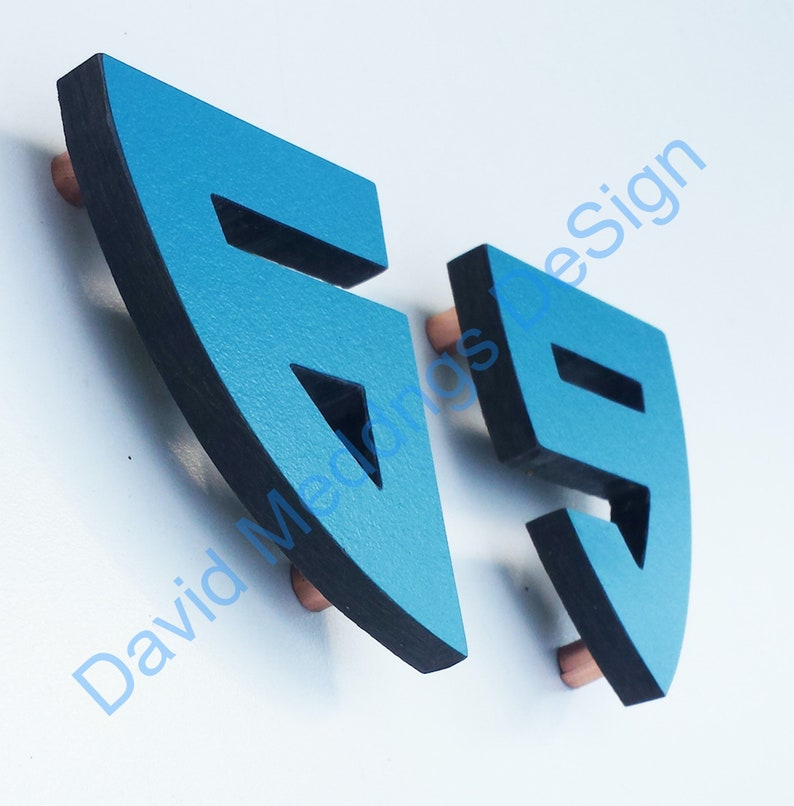 Coloured Architectural Arts and Crafts House numbers in image 0