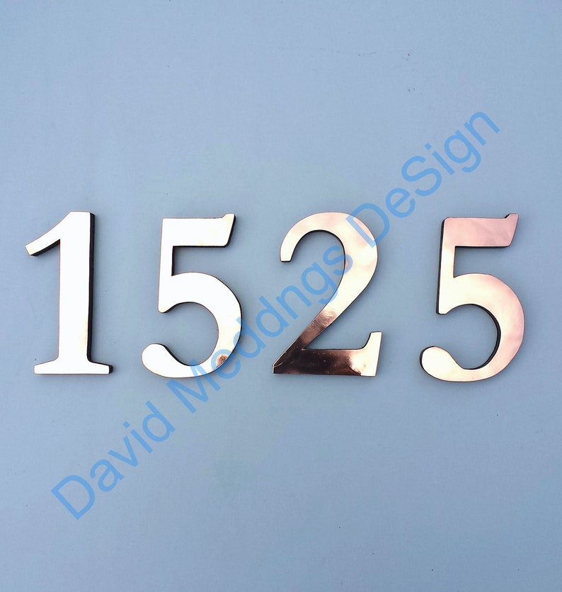 Copper floating block house numbers letters in Traditional image 0