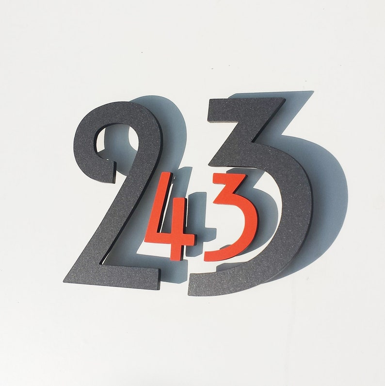 Coloured Floating House numbers Architectural style in Mission image 0