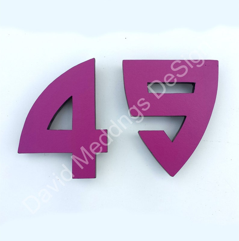 Large coloured Architectural Arts and Crafts House numbers image 0