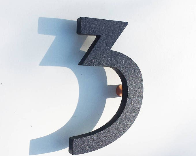 "Coloured Mission Mackintosh Architectural 6""/150mm high House numbers in virgin cladding g"