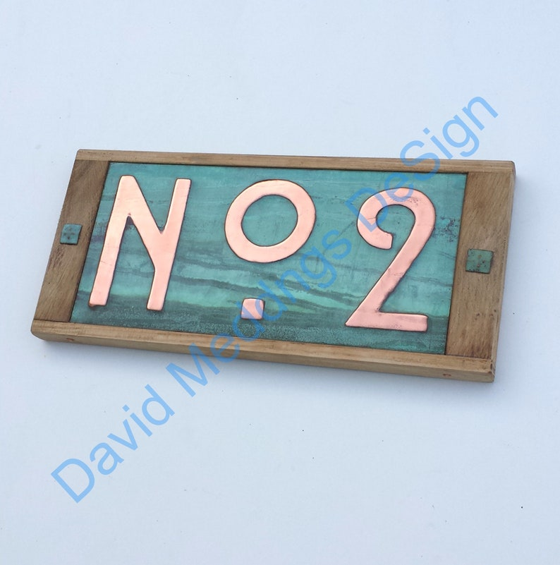 Metal Street sign in Mission Mackintosh style  with oak frame image 0
