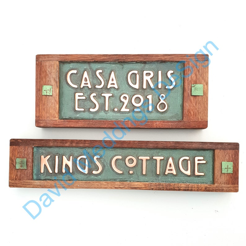 Personalized gift Name sign in Mackintosh/Mission font image 0