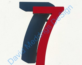 """Architectural Arts and Crafts Mission Mackintosh coloured House numbers 9""""/228mm high dS"""