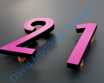 """Large  Arts and Crafts House numbers Mission Mackintosh coloured  12""""/300mm high Architectural dS"""