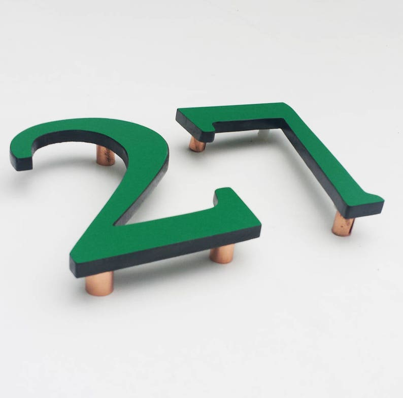 Upcycled eco gift Coloured House floating numbers image 0