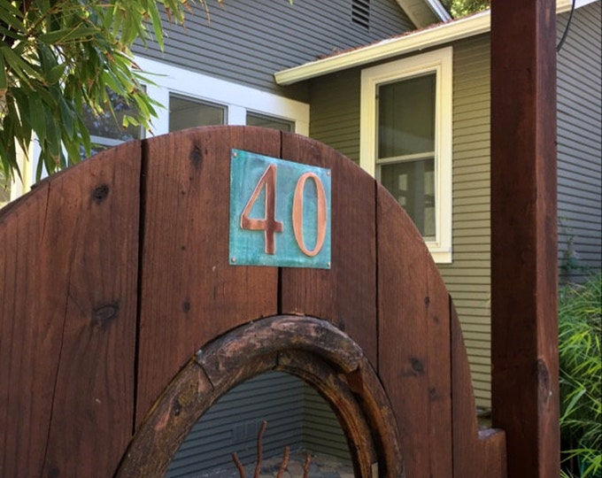 """Large Outdoor Copper Number Letter Address Plaque  2 x nos. 6""""/150mm tracked delivery, unique on the web g"""