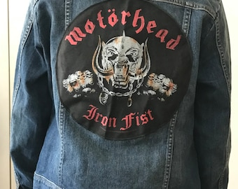Upcycled Limited Denim Jacket with Motörhead Backpatch (M)