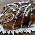 RESERVED LISTING Snake Nest Pendant. Amber, Artisan Sterling Silver. Primitive, Raw, Organic, Tribal, Gypsy, Wabi Sabi, Animal, Talisman