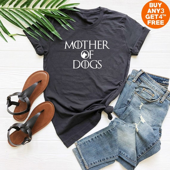 487710f7866 Mother of dogs shirt funny tee shirt for teen fashion top