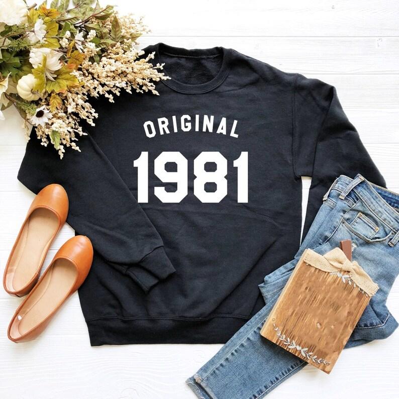b97051a3a 38th birthday sweater 1981 birthday tshirt funny gifts | Etsy