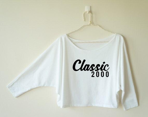 18ème anniversaire pull 2002 chemise ADO cadeaux d'anniversaire mode femmes tumblr drôle d'anniversaire cadeaux Sweat fille d'anniversaire disant chemise femme t-shirt graphique 35bee3